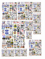 Small Ford,Chevy Plymth,Mopar DECALS FOR DIECAST  CARS & DIORAMA