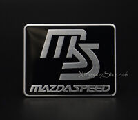1Pcs Aluminum Car Modified Emblem Badge Sticker Logo Fits for Mazdaspeed MS 3 5