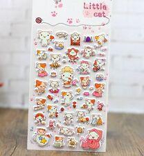 FD4497 Korea Design Little Cat 3D Bubble Sticker for Diary Reward Moblie Phone ♫