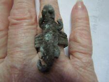 Pirate Artifact, Port Royal, Coral Encrusted Bronze Lizard Trade Ring,1692