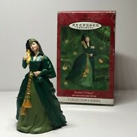 Hallmark Gone With The Wind Ornament Scarlett O'Hara green drapery dress 2000