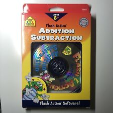 School Zone Flash Action Addition Subtraction Children Learning Software Math 6+