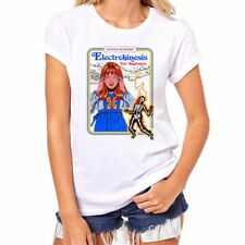 Electrokinesis for Beginners Funny t shirts Womens Short Sleeve Halloween Tops