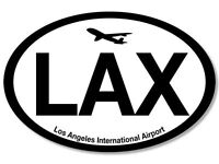 "5"" lax los angeles international airport car bumper sticker decal usa made"