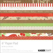 KaiserCraft ~ BE MERRY ~ 6 x 6 Paper Pad ~ 24 Sheets SSDP + 10 Specialty Papers
