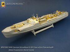 Griffon BPN72002 1/72 Schnellboot S-100 Flak 38 Premium Edition Etching Parts