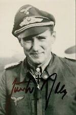 More details for ww2 luftwaffe ace gunther rall kc signed postcard size photo