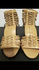 Enzo Angiolini  Womens Size 5.5 Gold Wedges Gladiator Sandals Shoes