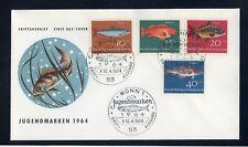 BUND Nr.412-415 SCHMUCK-FDC ESST BONN 10.4.1964 FISCHE ME 22,-++ (120172)