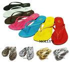 New Women FCS Shoes Flip Flops T- Beach Thongs Flats Slippers Size