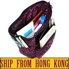 Small Organizer Reversible Pouch Cosmetic Makeup Bag Travel Insert Handbag Purse
