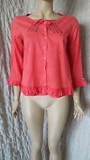 Odd Molly 491 coral 100% cotton shirt blouse size 2