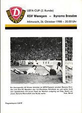 EC III 88/89 SG Dynamo Dresden - KSV Waregem, dunkelgelbe Edition, 26.10.1988