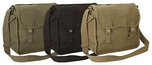 Canvas Bag Vintage Army Military Style Haversack Work Tool Webbing Shoulder Sack