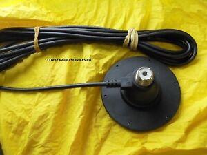90mm BLACK MAG MOUNT SO239  ANTENNA BASE with PL259 CB RADIO HEAVY DUTY MAG