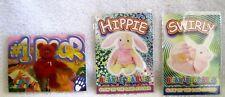 1999 Ty Beanie Series 4 2nd Edition #1 Bear Artist Proof+Hippie&Swirly Stickers