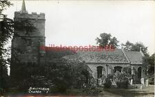REAL PHOTOGRAPHIC POSTCARD OF BIRLINGHAM CHURCH, NEAR WORCESTER, WORCESTERSHIRE