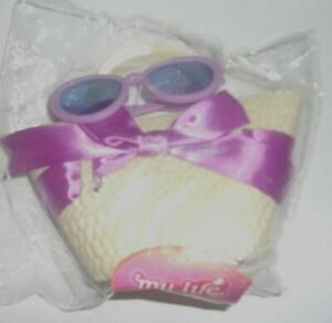 """My Life Beach Tote and Sunglasses for 18"""" My Life Dolls, 3 yrs. +"""