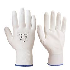 Portwest A125 Nero Grip Safety Gloves PU - White