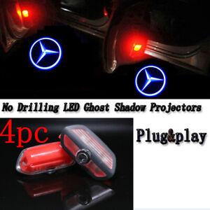 4pc Car Projector Ghost Shadow Door Lights For Mercedes Benz S-Class 2014-2021