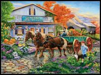 Bringing in the Harvest - Chart Counted Cross Stitch Pattern Needlework Xstitch