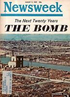 1965 Newsweek August 9 - Bomb and Hiroshima;Joe Namath;Casey Stengel;Sammy Davis
