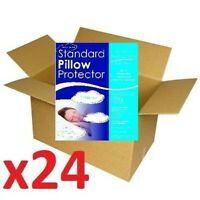 24 Wholesale Hotel Deal Zip On Allergy Stain Resistant Standard Pillow Protector