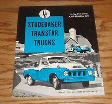 Original 1958 Studebaker Transtar Truck Sales Brochure 58 Pickup
