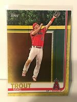 Mike Trout 2019 Topps #100 Walgreens Yellow Parallel SP