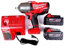 "Milwaukee FUEL 2763-20 M18 1/2"" Impact Wrench,(2 48-11-1850 5.0 Battery, Charger"