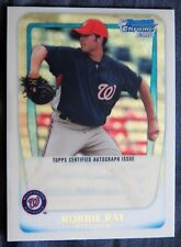 2011 Bowman Chrome Robbie Ray Superfractor Auto PROOF Card Washington Nationals