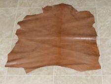 (Cbe10292) Hide of Medium Brown Printed Lambskin Leather Hide Skin