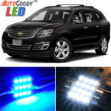 16 x Premium Blue LED Lights Interior Package for Chevy Traverse 2009-2017 +Tool