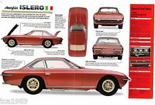 1968/1969/1970 Lamborghini ISLERO SPEC SHEET/ Brochure