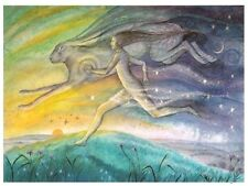 PAGAN WICCAN GREETING CARDS Run Like a Hare WENDY ANDREW Goddess CELTIC NATURE