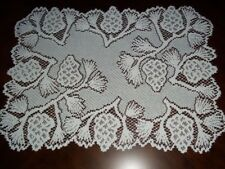 LACE PLACEMAT WHITE PINE CONES DESIGN 15 X 20 TABLE OUTDOOR FORMAL DINING WPM797