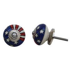 American Flag Ceramic Cabinet Door Knob | Cupboard Door Handle | Drawer Pull