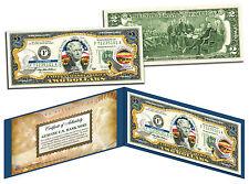 KANSAS Statehood $2 Two-Dollar Colorized US Bill KS State *Genuine Legal Tender*