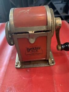 Antique Dexter No 2 Improved Automatic Pencil Sharpener Co 1920s Red