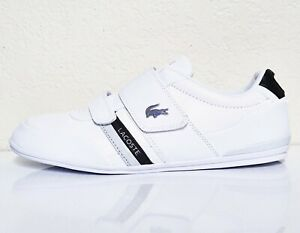 LACOSTE Misano Strap 120 1 Men's Casual Leather Loafer Shoes Sneakers White Blk