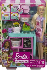 Barbie Florist Flower Shop Playset Dough Pretend Gift Set with Accessories NEW