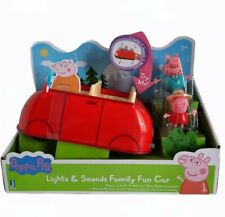 Peppa Pig Lights and Sounds Family Fun Car Toy Peppa and Daddy Ages 2+ NEW