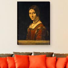 """WANDKINGS Leinwandbild Leonardo da Vinci - """"Bildnis einer Dame des Mailänder"""""""