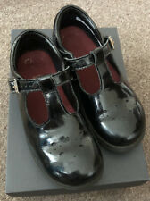 Children's size 11f Clarks Crown Wish Black Patent School shoes