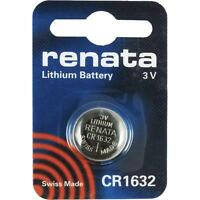 CR1632 Coin Battery Pack Renata 3V / for Watches Cameras Car Keys Torches