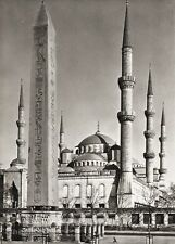 1934 Vintage 11x14 TURKEY Instanbul Sultan Ahmed Mosque Architecture ~ HURLIMANN