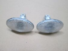 FORD WHITE SIDE REPEATER ( SMALL OVAL )  X 2 COMPLETE WITH BULB HOLDER