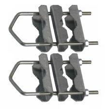 2x Mast Doppelschelle Mastschelle Sat Rohr Masthalter verzinkt 60 mm 16 cm lang