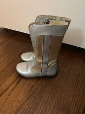 Naturino boots Gold & Silver Euro 28 US 11 EUC Zip Adorable Fall Winter