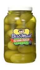 Best Maid Sour Pickles 128 Fl.Oz./Tasty Gourmet Food Dill Pickles Pk1-18/22Count